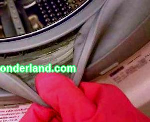 How to put an elastic band on a washing machine drum