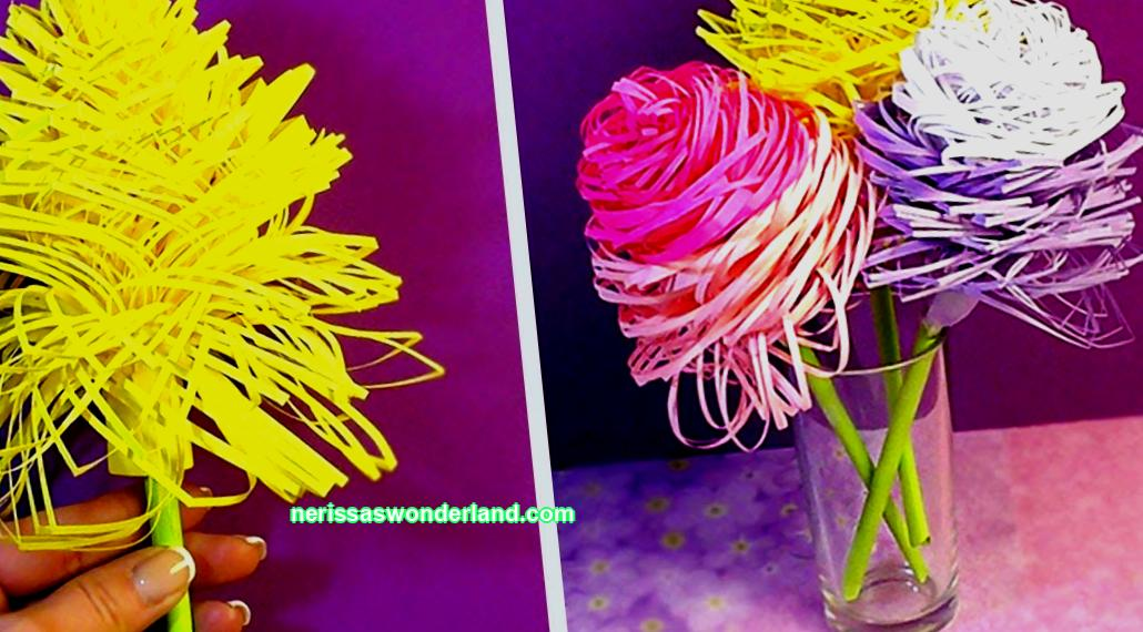 Volumetric paper flowers; diy schemes, templates, decor options and decorations