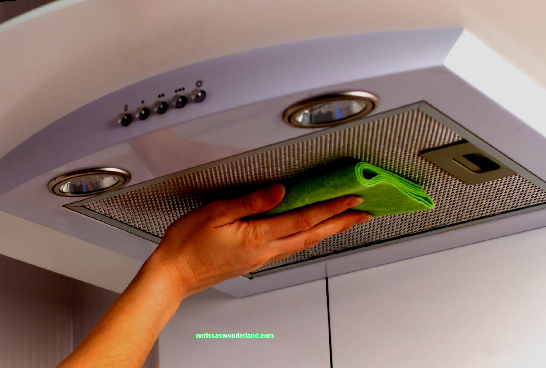 How to clean a cooker hood in the kitchen at home
