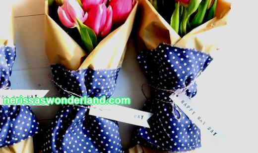 How to wrap a bouquet with craft paper