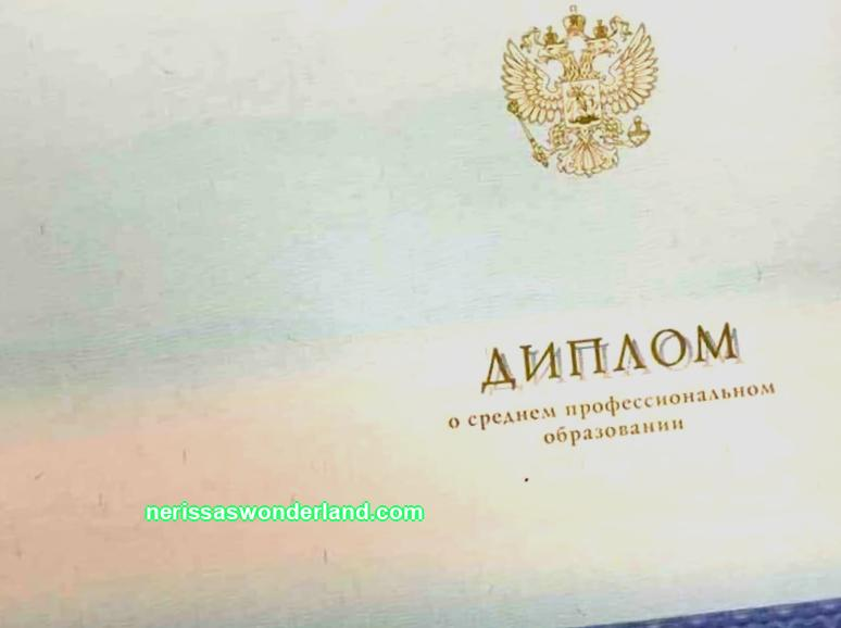 Buy a diploma of secondary specialized education in Dzerzhinsk