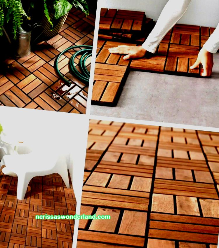 Outdoor flooring from IKEA: beautiful floor for one, two, three