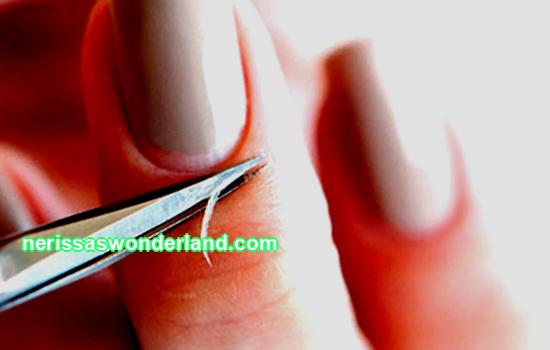 Proper preparation of the nail for manicure