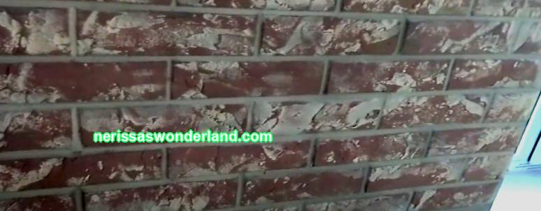 DIY brick wall painting